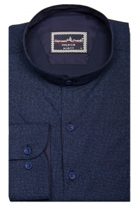 ab1255397ee Фото Рубашка тёмно-синяя в голубую точку GIOVANNI FRATELLI артикул  1461  Приталенные