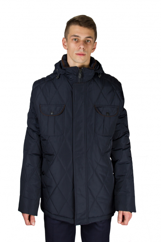 ee0e8b2dfc6 Куртка тёмно- синяя с капюшоном SANTORYO Куртки купить онлайн Куртки ...