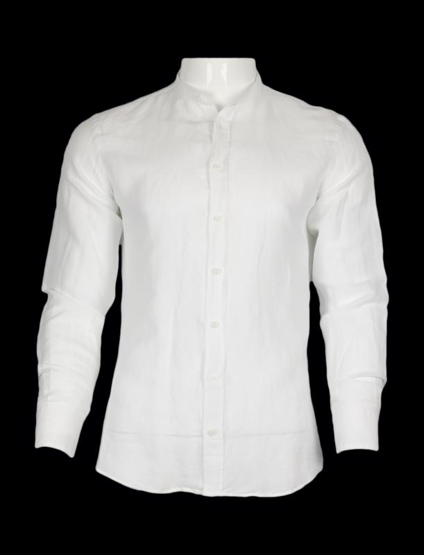 5ad78cdd44f Рубашка белая льняная воротник стойка SORBINO Приталенные купить ...