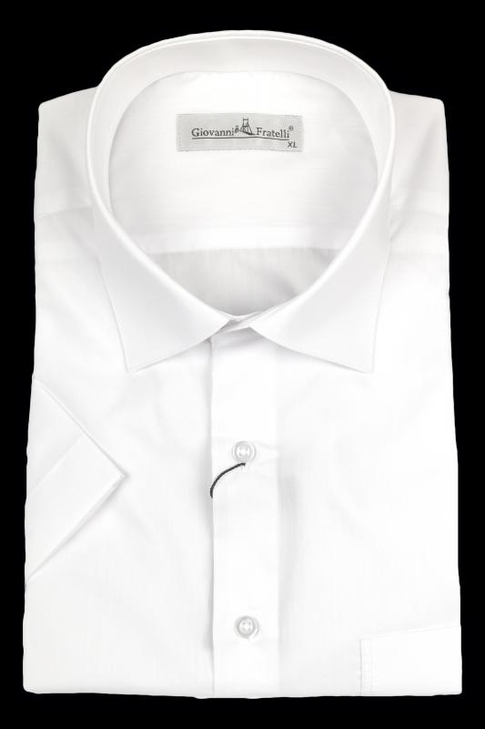 bb721bdf5f8 Рубашка c коротким рукавом белая Giovanni Fratelli Классические ...