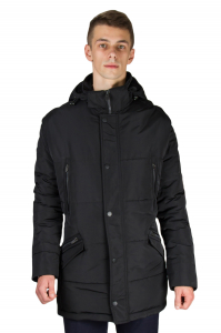 d014157bdf8 Фото Куртка чёрная с капюшоном SANTORYO артикул  8320 Куртки