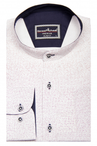 e1e237b0cdf Фото Рубашка белая в красный узор GIOVANNI FRATELLI артикул  1461-2  Приталенные