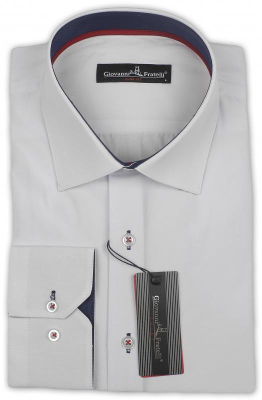 87690fac1ff Рубашка белая Giovanni Fratelli Приталенные купить онлайн ...